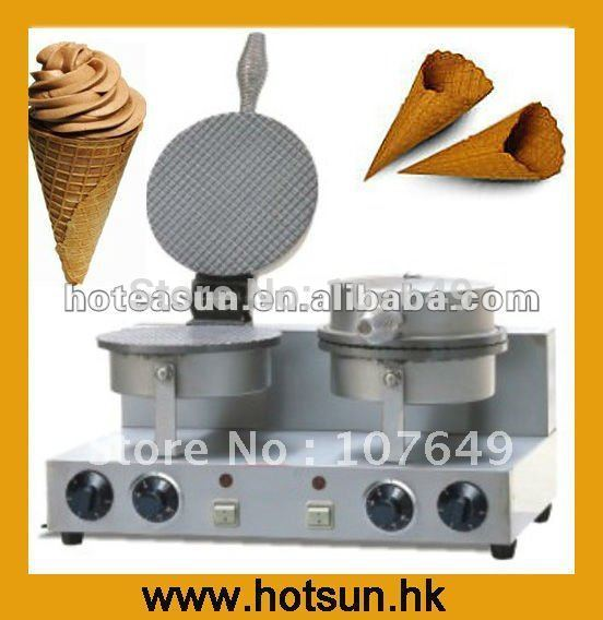 Double Commercial Electric Ice Cream Cone Waffle Baker Maker Machine ice cream cone machine cone maker waffle machine cone baker