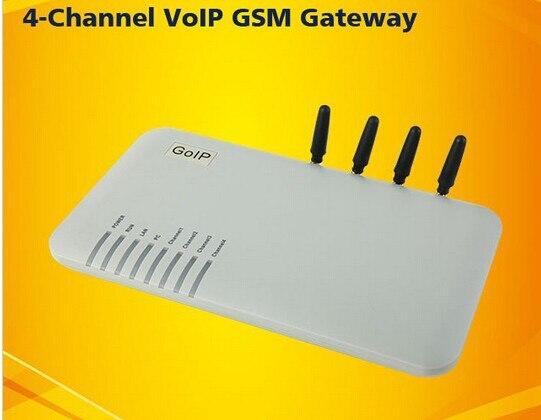 Quatre bandes GOIP-4 4 canaux VoIP passerelle GSM réseau GSM et réseau VoIP goip4 protocoles SIP et H.323 intégrés