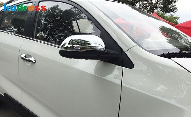 For Kia Rio 4 X-line 2018 2019 Side Door Mirror Wing Rear View Rearview Caps ABS Chrome Style Trim Cover Molding Car Styling