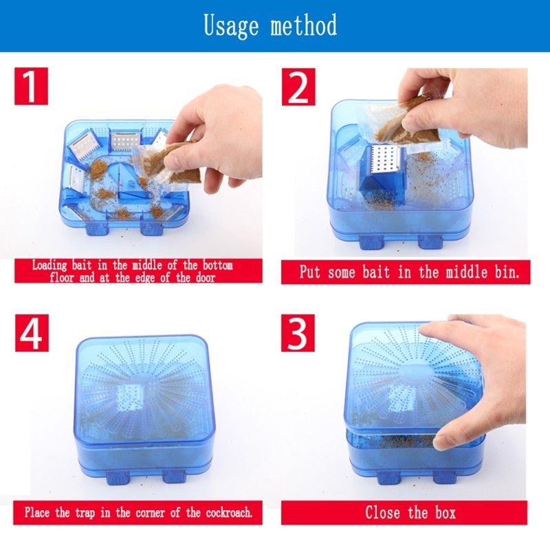 Image 4 - Efficient Reusable Cockroach Pest Traps with Bait Non Toxic Eco Cockroach Bug Catcher Catch Insect Pest Killer Traps Repeller-in Traps from Home & Garden