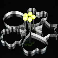 5 Pcs Set Kitchen Thickening Stainless Steel Breakfast Omelette Mould Heart Mickey Star Shape Cookie Making Mould