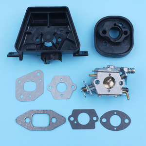 Image 3 - Kit de soporte de filtro de aire para carburador, Colector de admisión para MCCULLOCH MAC CAT 335 435 440, pieza de repuesto para motosierra Walbro Carb