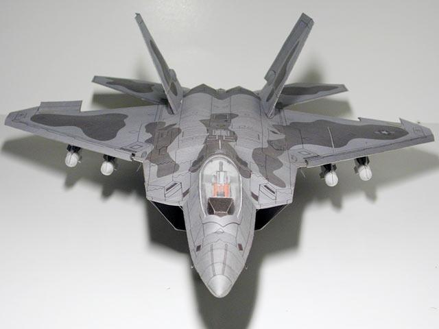 F22 Raptor Invisible Fighter Fine Edition Super Great 3D Paper Model DIY Origami Toy