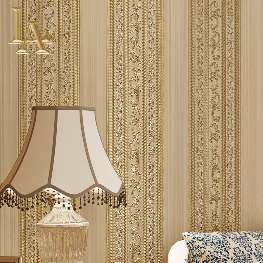 NoEnName Null European Style Striped Wallpaper for Bedroom Living room Background walls Luxury Home Decor 3D Wall paper Rolls blue earth cosmic sky zenith living room ceiling murals 3d wallpaper the living room bedroom study paper 3d wallpaper