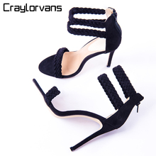 Craylorvans High Heels Sandals Women Cross Strappy Gladiator Sandals Women Summer Shoes Woman Instagram Sandals 2017 New