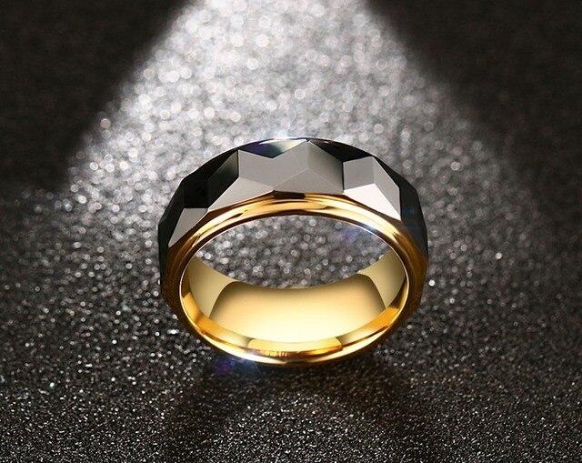 Мужские кольца из вольфрамовой стали 8 мм вечерние ювелирные