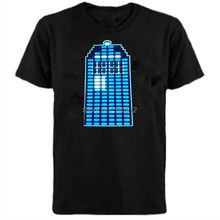 Dr Who & Dalek LED Tshirt LED sound active T shirt  LED illuminated flash shirt Free Shipping