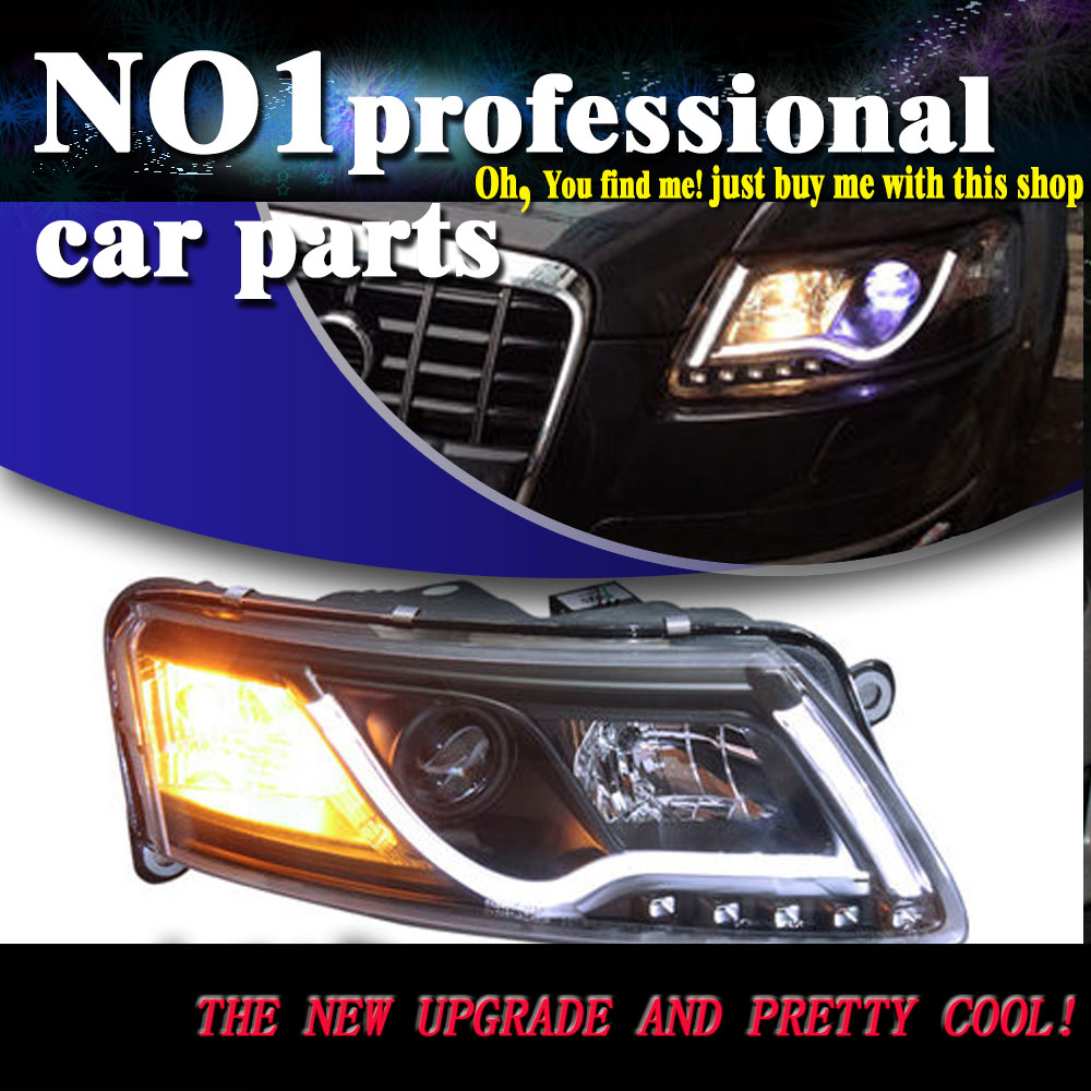 Car Styling Head Lamp 2005 2012 For Audi A6 C5 headlights led  head lamp DRL front Bi-Xenon Lens Double Beam HID KIT auto part style led head lamp for benz w163 ml320 ml280 ml350 ml430 2002 2005 led headlights drl hid bi xenon lens low beam