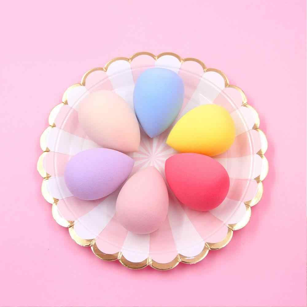Water Drop Shape Makeup Sponge Cotton Pad Container  Foundation Sponge  Cosmetics Power Puff Girls Compact Powder