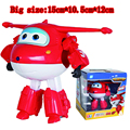 Big Super Wings 15cm ABS Deformation Airplane Robot Action Figures Super Wing Transformation Toys For Children Gift Brinquedos