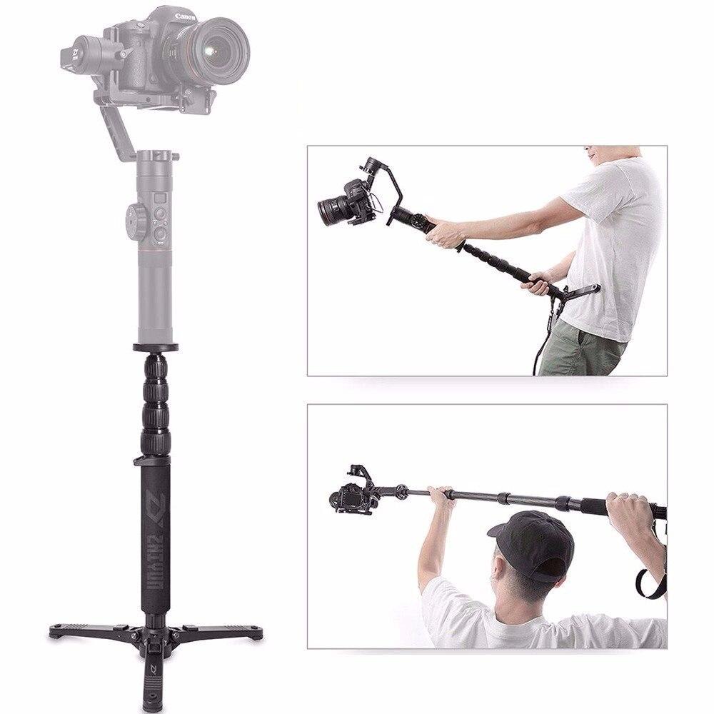 Zhiyun télescopique monopode Selfie bâton avec trépied support pour grue 2, Plus, V2, grue-M, DSLR Canon Nikon SONY appareil photo