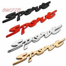 4 color 3D Sport Word Letter Logo Emblem Badge Car Sticker Racing Motor Logo Decal For Mercedes Benz Toyota BMW VW car styling