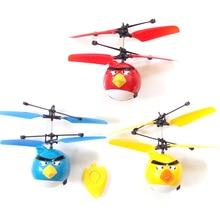 Вертолет дети мальчик Drone игрушки Helicoptero Летящие птицы фигурка героя игрушки блюдце индукции мини флаер Детские RC игрушки в помещении