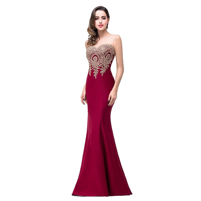 Sexy Ladies Evening Dress Womens O-neck Backless Strapless tube dress Host Party gowns Long Slim Bodycon Formal Maxi Dressses вечернее платье red evening dress vestido sexy long evening dress