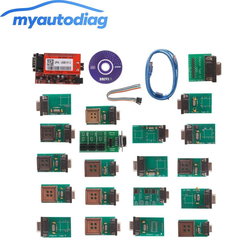 Newest UPA-USB UPAUSB UPA USB Programmer With Full Adaptors V1.3 ECU Chip Tunning OBD2 Diagnostic Tool Free Shipping