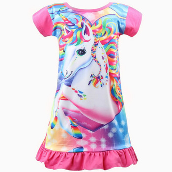 Short Sleeve Princess Unicorn Dress