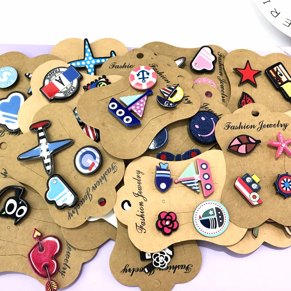 3-4pcs/set Creative Cartoon Mix 5sets Heart Music Note Smile Airplane Brooch Button Pins Denim Jacket Pin Badge Jewelry Gift