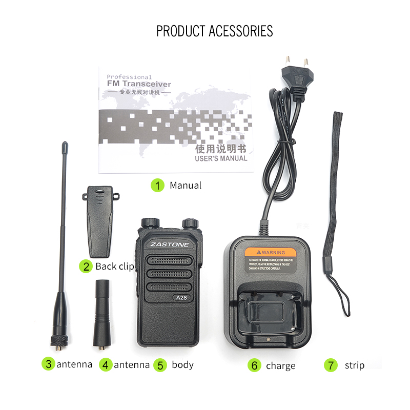 Zastone A28 10W Professional Long Range Walkie Talkie 10km UHF - Walkie talkie - Foto 6