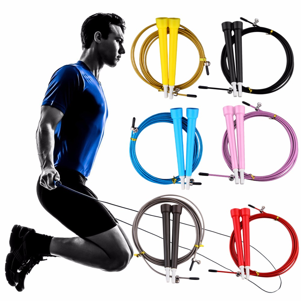 Cable Steel Jump Skipping Jumping Speed Fitness Rope Cross Fit MMA Boxing ZH7483