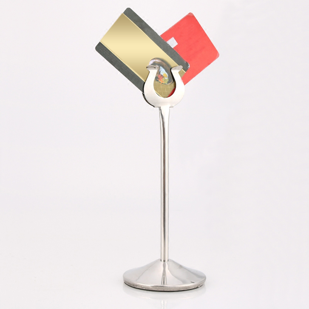 Stainless Steel U Shaped Mini Table Number Place Card Holder - Restaurant table stands
