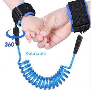 1.5-2.5m Kids Safety Harness Adjustable Children Leash Anti-lost Wrist Link Traction Rope Baby Walker Wristband(China)