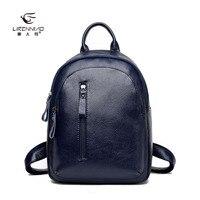 LI REN NIAO 2017 Fashion Leathe Small Backpack For Girls Backpacks Women Girls School Bags LRN