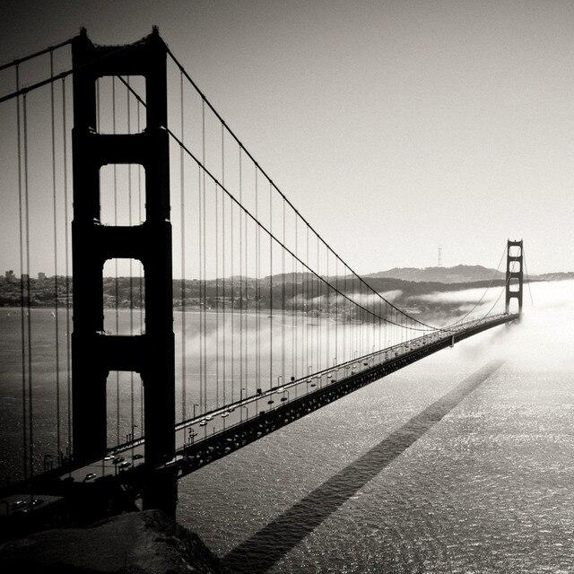 New 2016 Needlework DIY Diamond Painting Golden Gate Bridge Black White Embroidery The Famous Scenic Cross