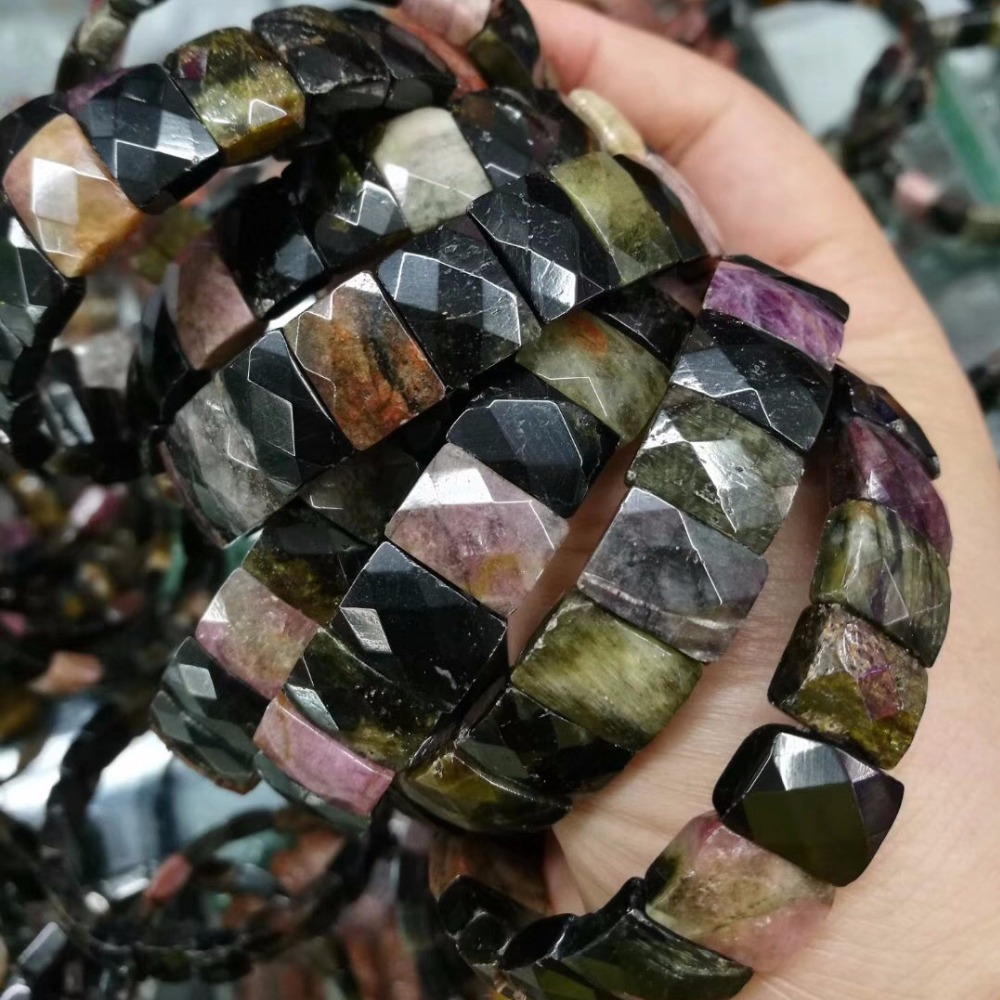 natural tourmaline stone beads bracelet natural energy stone bracelet bangle for woman for gift free shipping wholesale ! natural aquamarine stone beads bracelet natural gemstone bangle for woman for gift birth stone of pisces