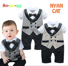 Free Shipping 3sets lot Baby Boy s Formal Romper
