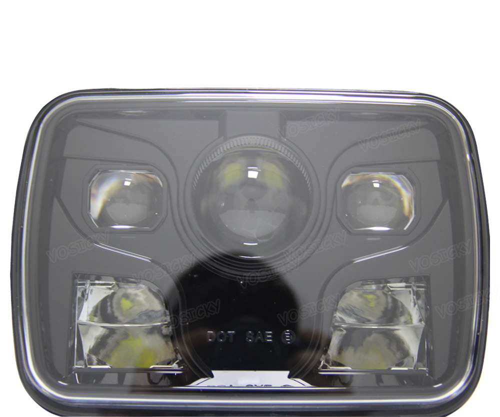 5x7 Auto square led headlamp 5x7 Inch led truck headlight 6x7 high low beam square led headlight for Jeep Cherokee XJ