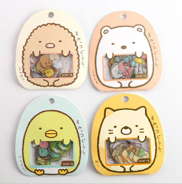 1pack=50pcs Japan Package Transparent Decorative Stickers Stickers 9*10cm WJ01