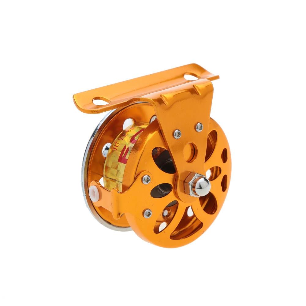 Neuf pêche bobines 2BB 1:1 droite ancien glace moulinets de pêche en alliage d'aluminium roue de poissons pour glace radeau de pêche