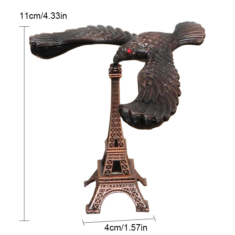 Creative Metal Balance Eagle Model Tower Landmark Building Decoration Alloy Eiffel Tower Kids Toy Gift Crafts Photography Props in Figurines Miniatures from Home Garden