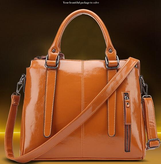 2017 Brand Women Patent Leather Handbag Fashion Las Handbags Briefcase Laptop Bag S Shoulder Messenger Bags