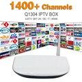 Europa Programa de Canal Sky Sport 1400 Canales Árabe IPTV Apk Servidor envío Q1304 Cuadro Árabe Iptv Quad Core Android Smart Tv Caja