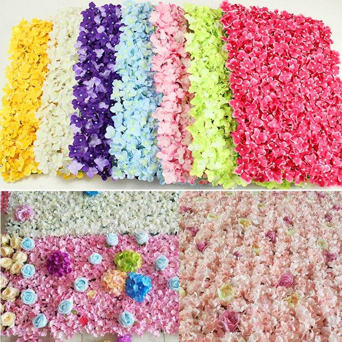 Festival fournitures 40x60 cm fleur artificielle toile de fond pour mariage anniversaire bébé douche fête mur romantique décor de mariage