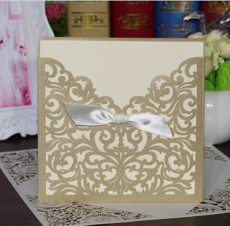 Aliexpress buy 10 sets wedding favors wedding invitation with aliexpress buy 10 sets wedding favors wedding invitation with lace bows laser cut invitation cards with insert paper blank card gold beige from solutioingenieria Choice Image