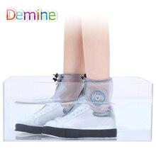 Demine Shoes Cover Overshoes Waterproof Cycling Men Women Outdoor Sport Non-slip Reusable Rain Shoe Cover Zipper Closure Cover