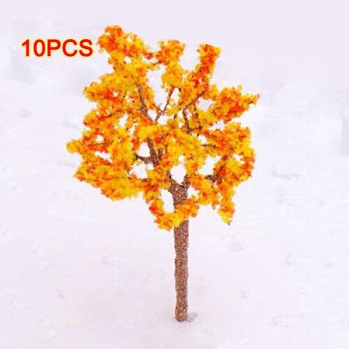 GSFY Wholesale Model Tree Train Orange Flowers Set Scenery Landscape OO HO - 10PCS