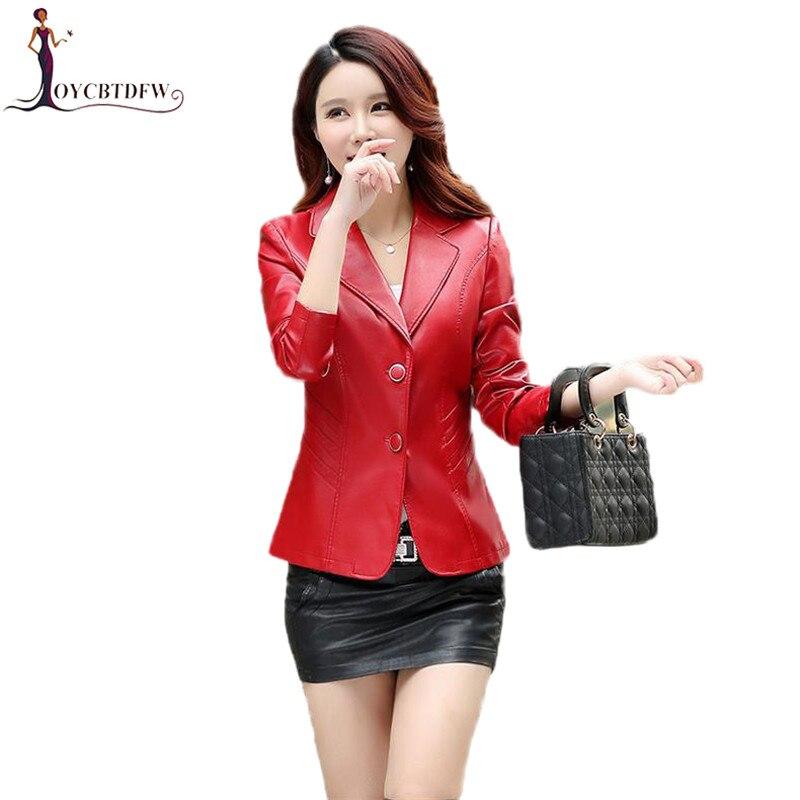Large size M-4XL Women   leather   jacket 2018 spring new   leather   Coat Slim short single-breasted PU   leather   coat female FASHION494