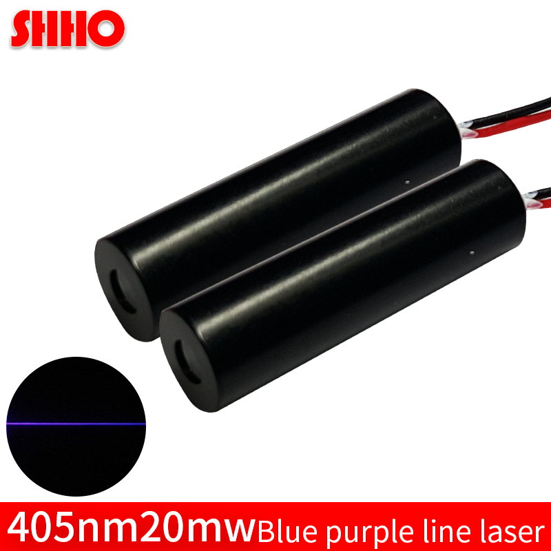 Short band customizable 405nm 20mw blue purple line laser module laser level launcher laser marking industrial class locator