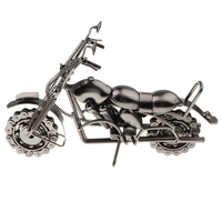 Handmade Metal Motorcycle Tractor Model Office Decor Motorcycle Loves Artwork