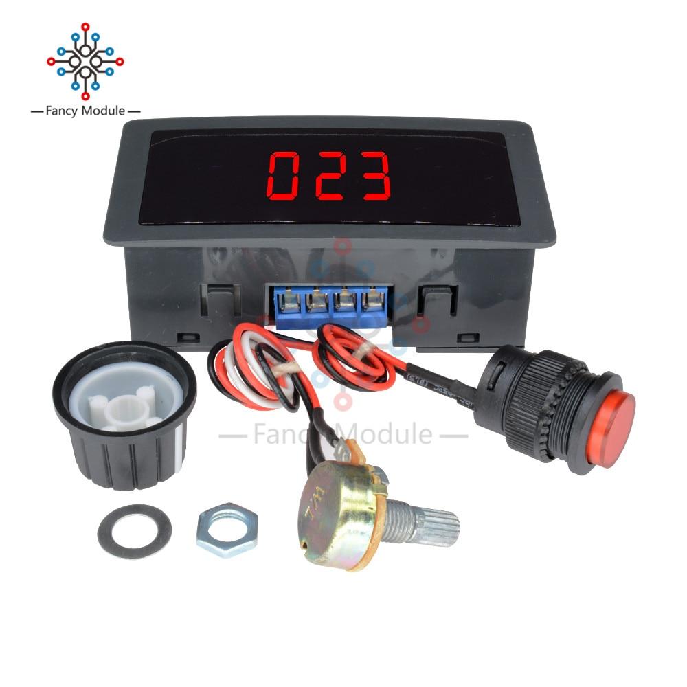 Adjustable DC 6V-30V 12V 24V MAX 8A 16kHz Motor PWM Speed Controller W/ Digtal Display Dc motor Control CV governor Switch