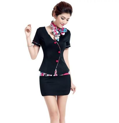 2015 transporte livre chip vestir na China verão vestido de verão preto uniforme airline uniforme sexy para as mulheres