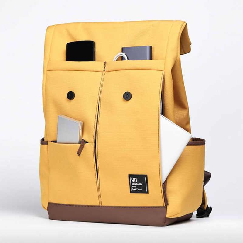 Youpin Urevo / 90fun College Schule Freizeit Rucksack 15,6 Zoll Wasserdicht Laptop Tasche Rucksack Im Freien Reise Für Männer Frauen