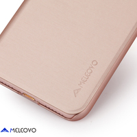 Rose Gold Meleovo Brand Leather Case For iPhone 7 Luxury Slim Flip Phone Cases For 7 Plus Kickstand Case Cover Coque