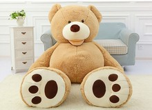 Cheap 130CM big giant stuffed teddy bear big large huge brown plush soft toy kid children doll girl Birthday Christmas gift цены