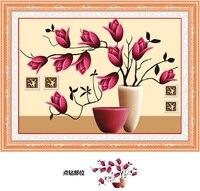 Magnolia Flower 5D Mosaic Print Cross Stitch Kit Diy Diamond Painting Home Decor Picture