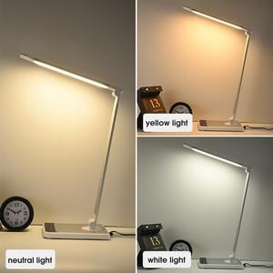 Image 5 - Lâmpada de mesa led 72 bulbo 3 cor varredura mão carregamento sem fio para o telefone 360 graus de rotação toque olho proteger com temporizador lâmpada de mesa