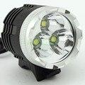 Светодиодный налобный фонарь XM-L T6  3800 люмен  3 x T6  водонепроницаемый + 8 4 в  аккумулятор + зарядное устройство